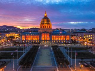 City Hall is just one of the colorful places to see in San Francisco.