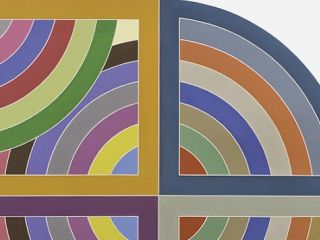 On display at the de Young Museum, Frank Stella